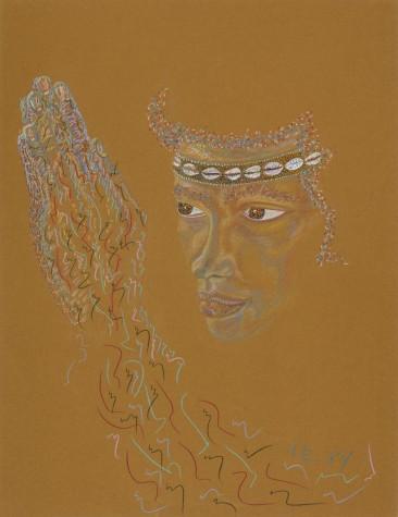 PORTRAIT OF KEMAN SUNDUZA A.K.A. WILLIAM SYDNEY HENDERSON III    1984